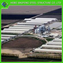 Iso portable steel structure warehouse from china cage chicken