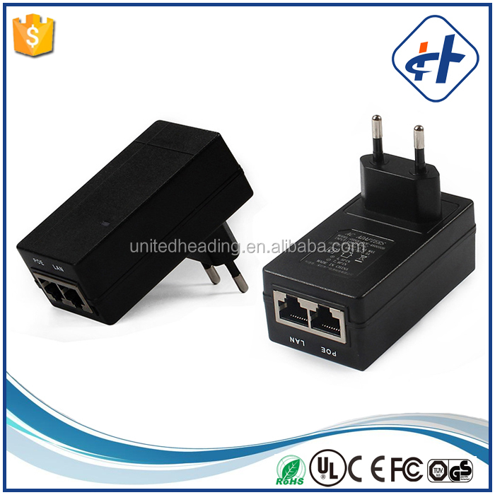 Wall POE Adapter 12V 1.5A POE SWITCH/ POE injector with two ports