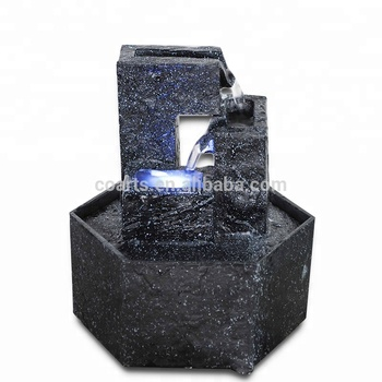 Mini Table decorative battery operated lighting indoor water fountain