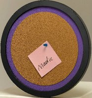 round cork Memo board with various size