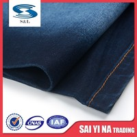 Stock wholesale woven spandex denim fabric for jeans sale