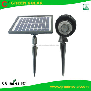 RGB Solar Powered LED Spot Lamp with 10 LED 5050