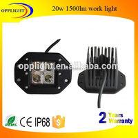 Opplight Car accessories 3inch embedded work light kit 5w/pc led working lamp for truck 4x4 j eep atv utv