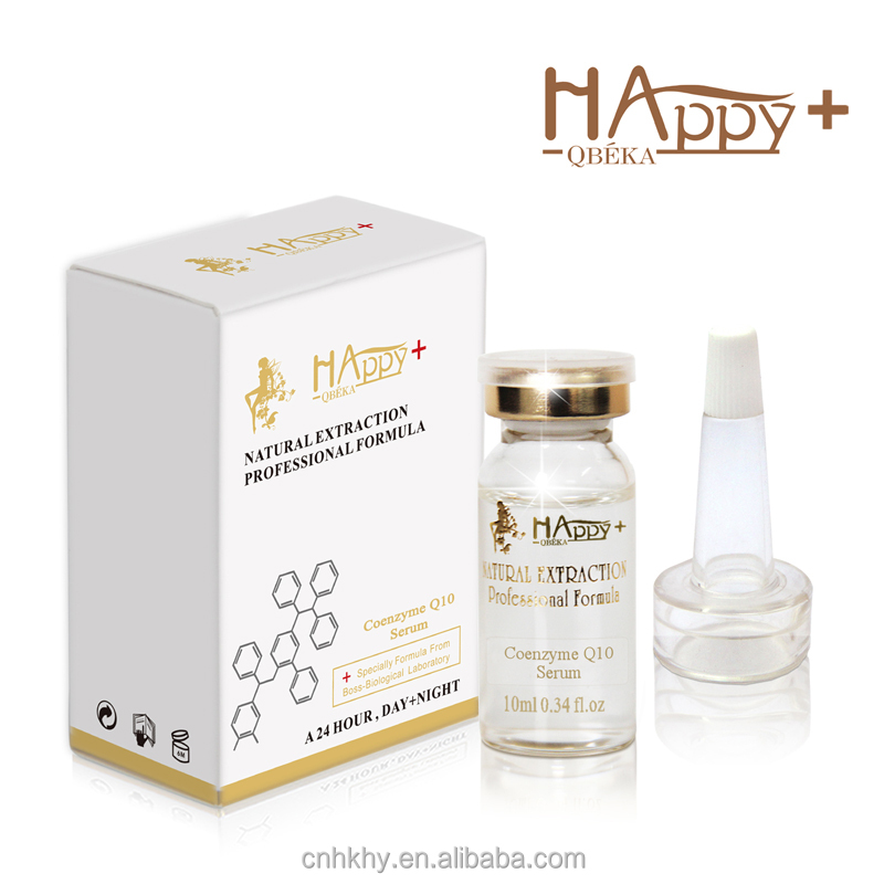 Face care activating serum Happy+ QBEKA <strong>coenzyme</strong> <strong>Q10</strong> anti wrinkle face serum skin care private label