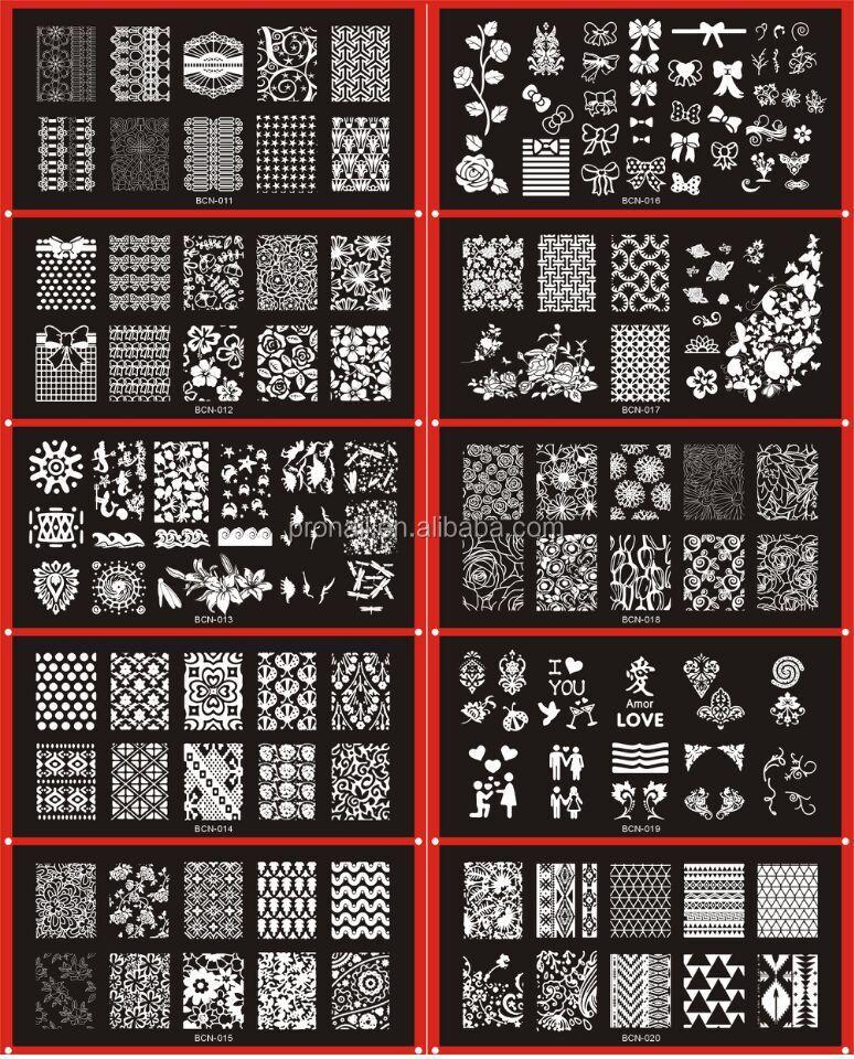 Bcn Series Stamping Plate Nail Art Stamping Plate 6cm12cm Buy