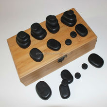 Hand-polished Natural SPA Volcanic Stone Massage cool and hot massager