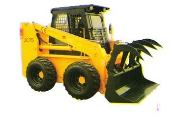 Attachment of JC Series Skid steer Loader :Fork grapple with bucket