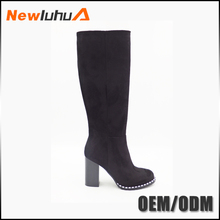 Factory price wholesale cheap fashion women suede knee high boots