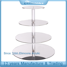 Hot Selling 4 Tier Mirror Effect Cake Pop Stand/ Fancy Wedding Dessert Stand