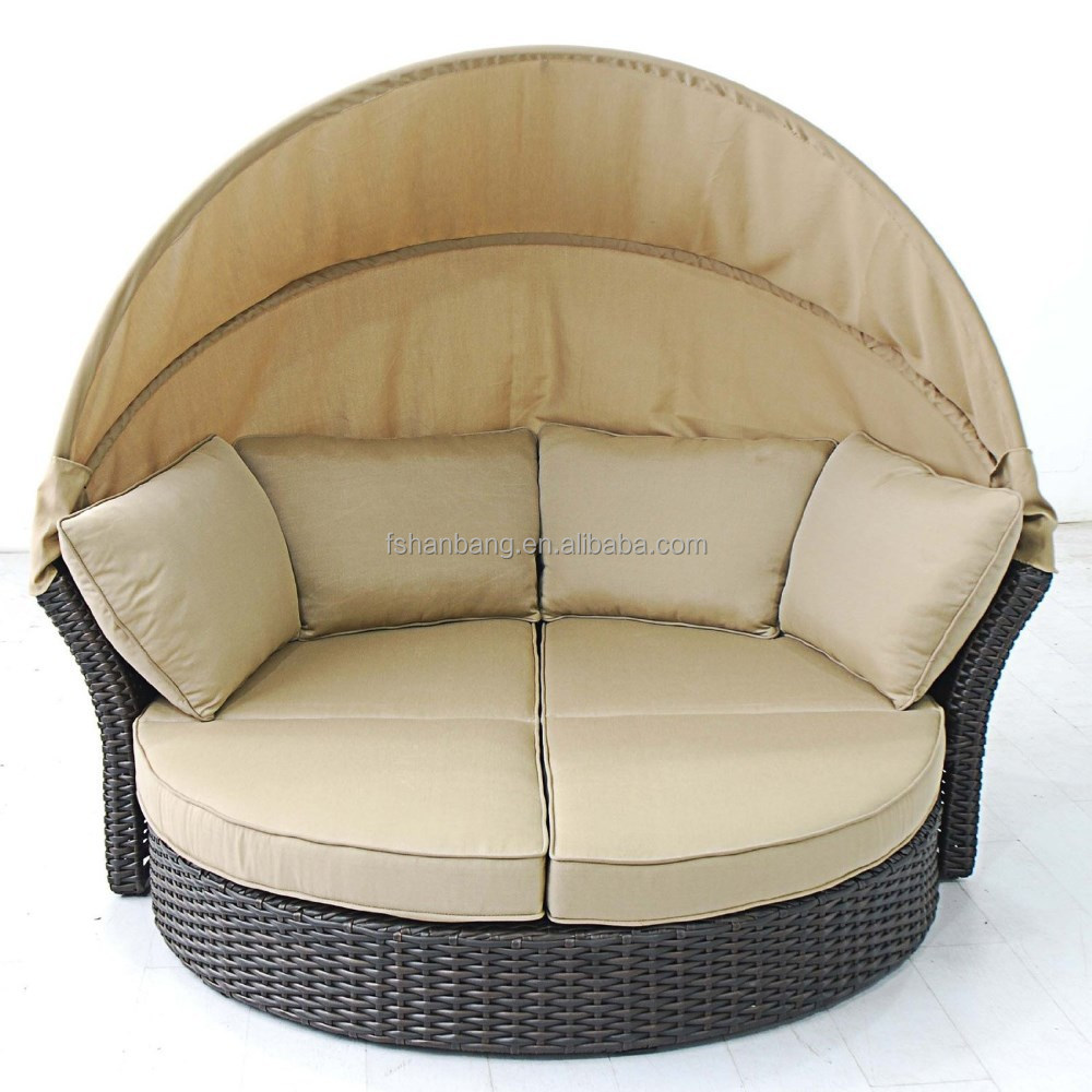 Terrace day bed love seat 2 in 1 conversion to chair couch for Sillones de rattan