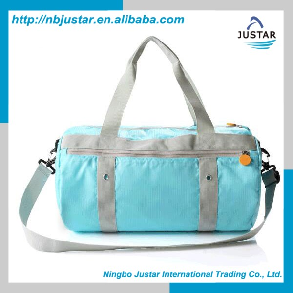 Barrel Type Foldable Design Lightweight Sports Bag Exercise & Fitness Use Waterproof Sports Gym Bag