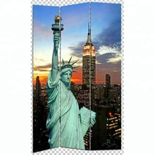 MOST POPULAR HOT SALE BEST PRICE QUALITY UNITED STATE NEW YORK CITY PRINT 3 PANEL CANVAS/WOODEN SCREEN & ROOM DIVIDERS