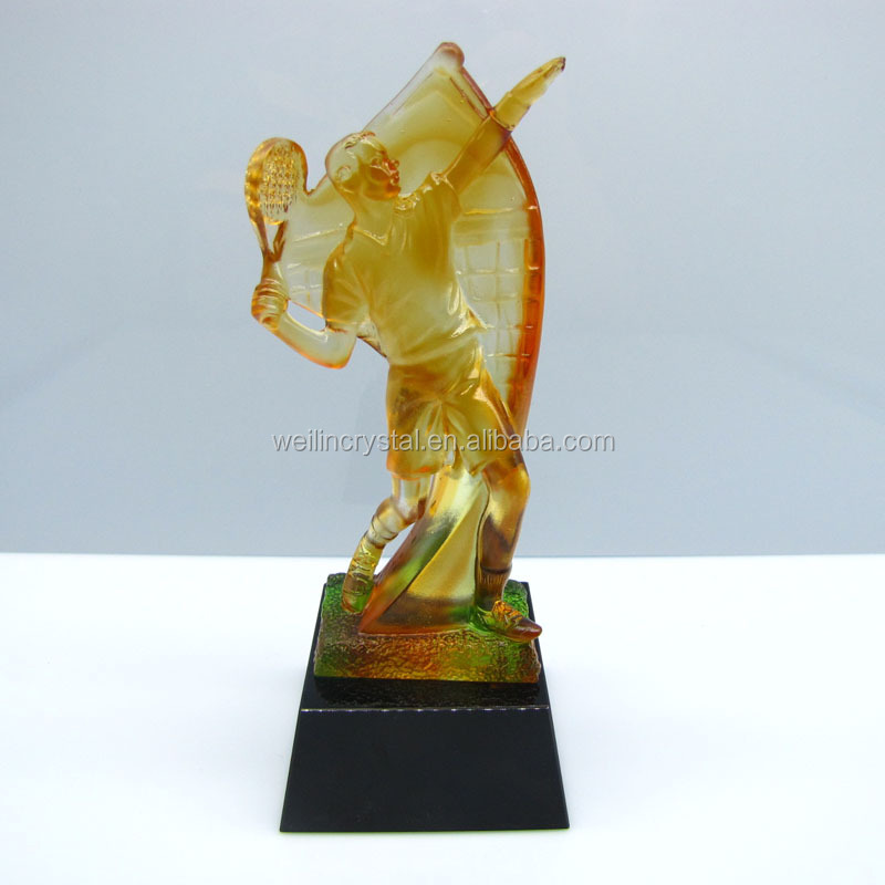 Newest creative sports awards of tennis tournament crystal trophy