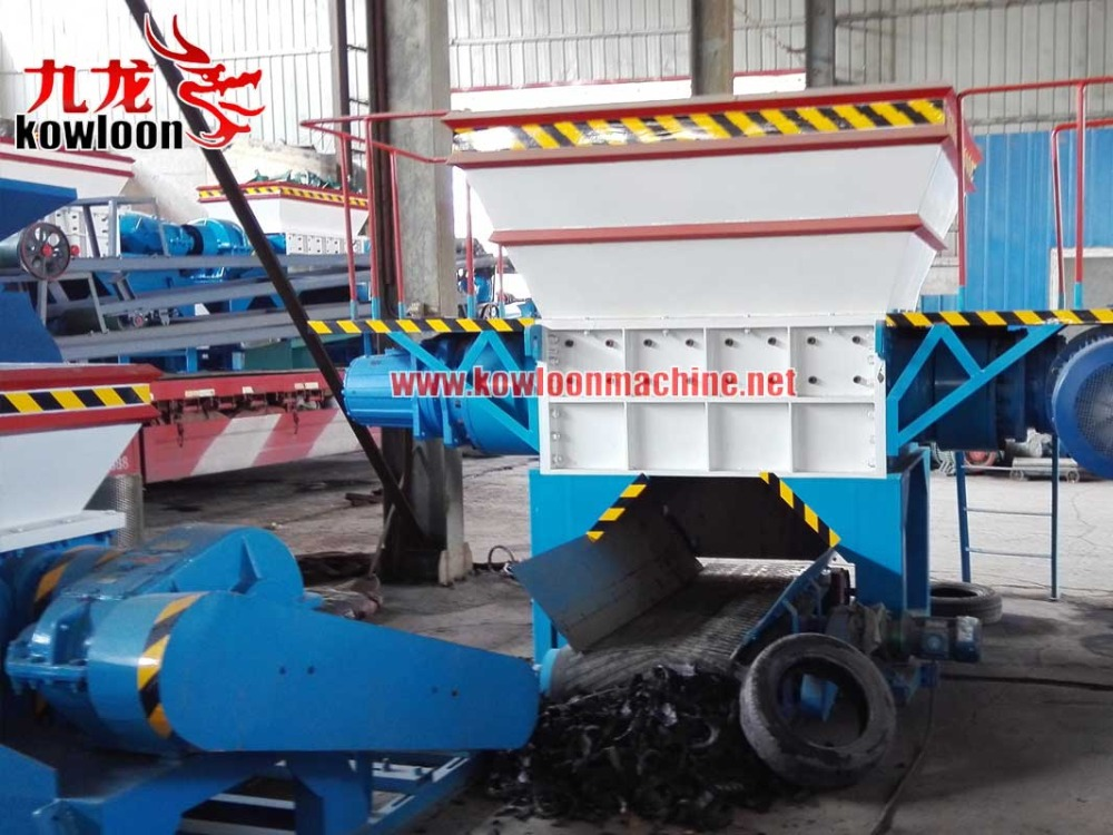 one through steel tyre shredding machines