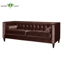 China top quality furniture factory living room furniture 3 seater sofa, American style No.1 seller chesterfield sofa