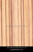 engineered zebrano timber wood face veneer for door,wall,furniture ,flooring recon veneer