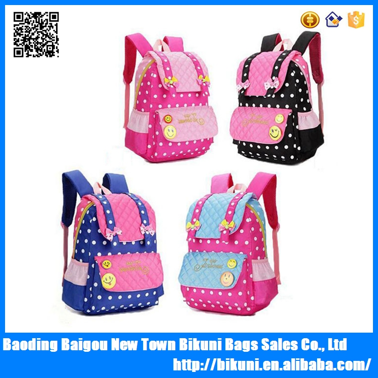New arrival best selling 2016 cartoon canvas lovey backpack kids school bag for girls