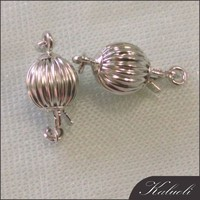 In bulk sale 6mm silver 14k gold lobster clasp