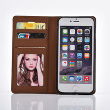 High quality crazy horse textured flip wallet design for iphone 6 leather case,mobile phone accessories