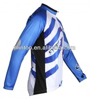 long sleeves customized blue cycling wear