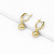 Xuping new arrival aretes oro 14k gold pendant earrings jewelry fashion simple style pendientes mujer