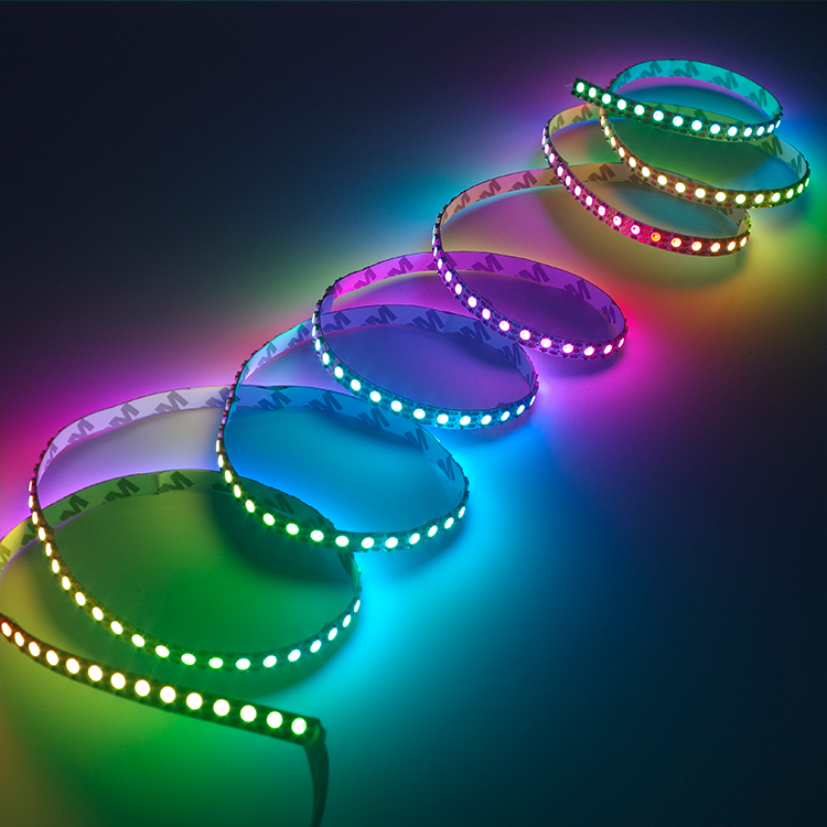 Hot ws2812b led ring lights pixel strip for indoor