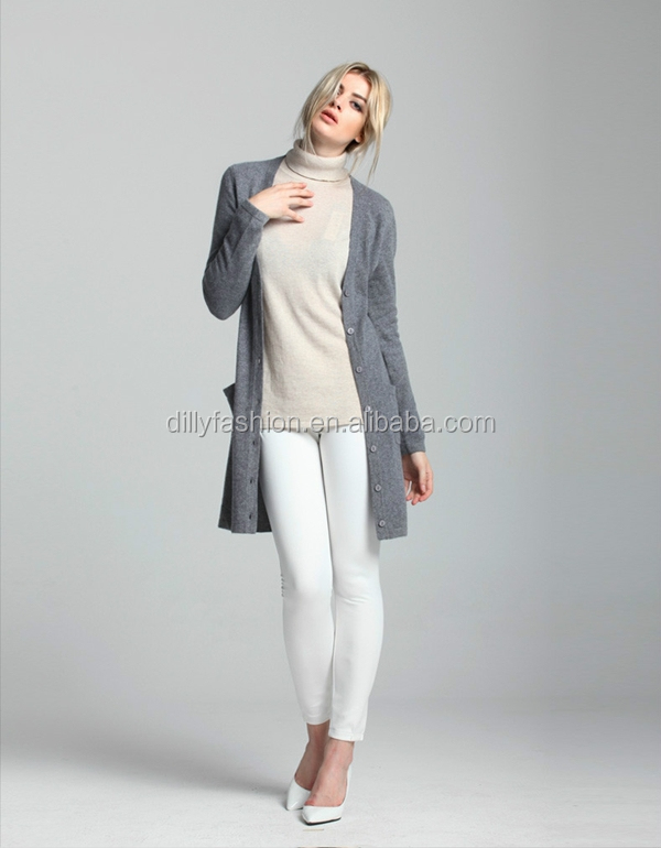 Knitting Pattern Womens Basic Slim Long Cardigans - Buy Long ...