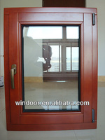 Aluminum clad wood windows with wood frame top high quality German ROTO hardware