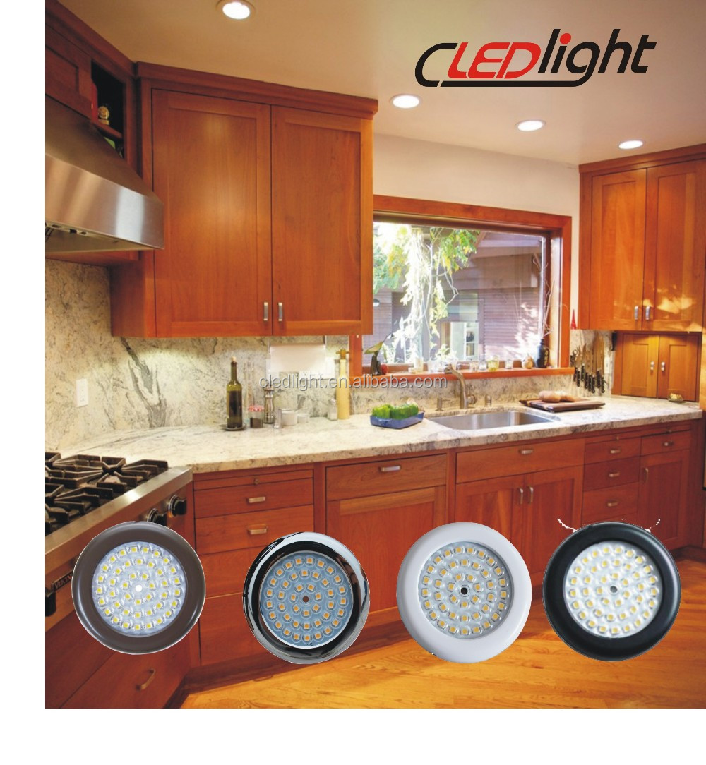 3Watt 12VDC Round LED Down Lights Kitchen Cabinet Light UL listed