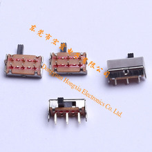 Adhesive force 4.0mm long travel 2P2T micro slide switch SK22H07