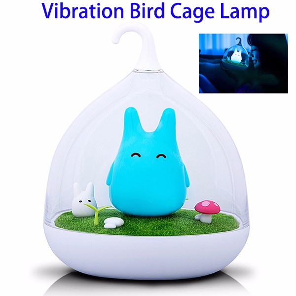 OEM Creative Chinchilla Cage Shape Touch Sensor 3D Baby Night Light for Kids Room