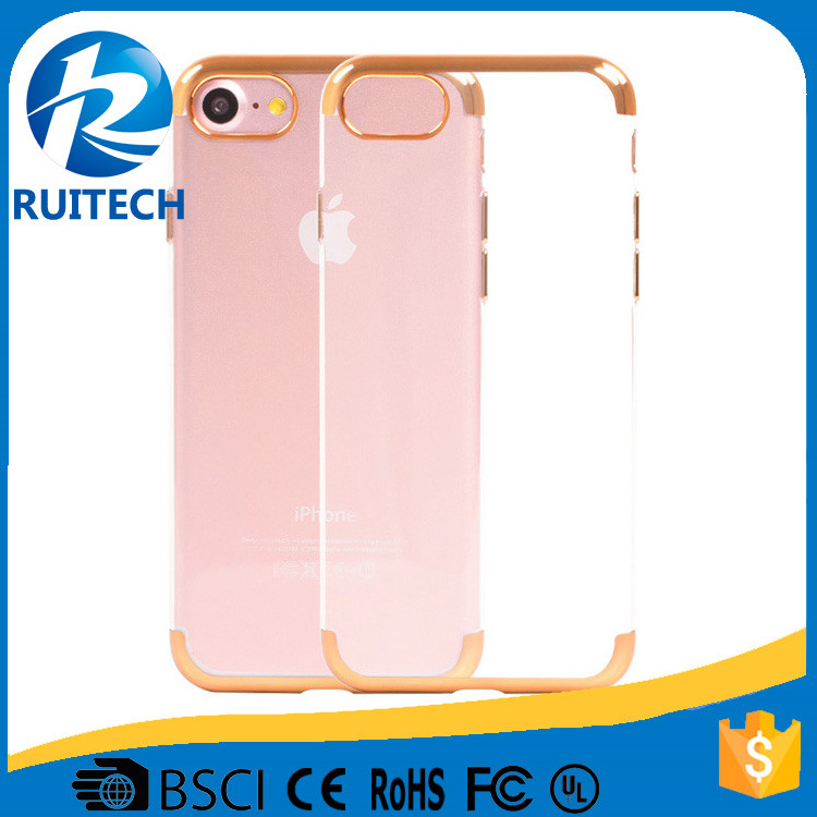 Best selling items mobile phone shell for iphone 7, ultra thin transparent crystal tpu+pc hard phone case cover