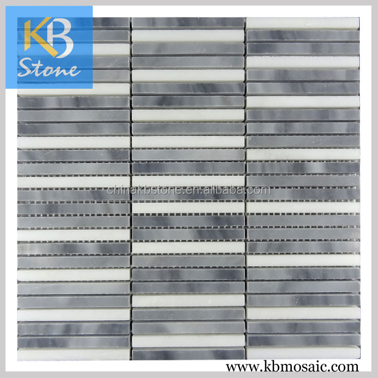 Honed Italy Grey recycled glass mosaic tiles