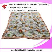 100% cotton gauze baby blanket , baby gauze quilt