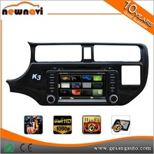 wince 6.0 system 7inch made in china For K3 / RIO 2012car radio system dvd mp3 player with bluetooth hands free call
