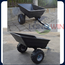 Utility wood Light weight small color ATV trailer with air wheels