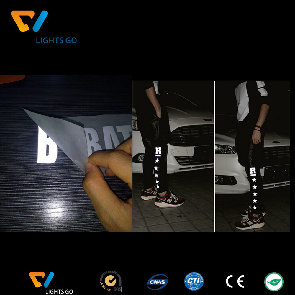 Reflective letters / lettering and logo heat transfer/ iron on reflective logo