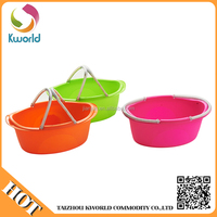 20l Handle plastic laundry bucket basket