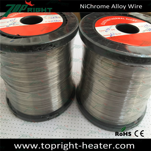 Insulated nichrome wire, fiberglass insulated resistance heating wire