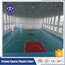 PVC Material Plastic Basketball Floor Carpets Indoor Basketball Court Mats