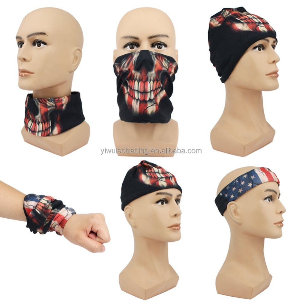 Free Shipping Sports Headwear Neck Gaiter Multifunctional Seamless Scarf tube neck face shield mask bandana