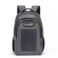 Durable Grey 1680D Polyester Solar Backpack