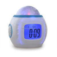 promotion Hairong kids digital projector led alarm clock with perpetual calendar and thermometer