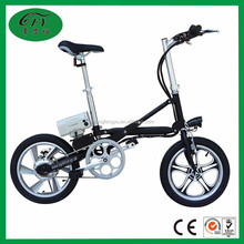 Fashionable designed 16 inch 36v adult city mini portable electric bike with CE