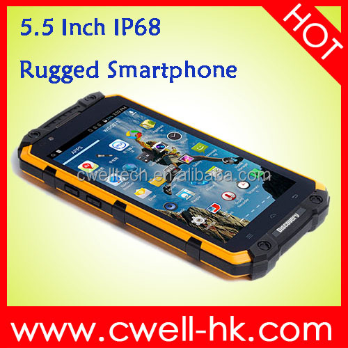 5.5 Inch IPS Capacitive Touch Screen 1GB RAM 16GB ROM Discovery V9 IP68 Waterproof Rugged Smartphone