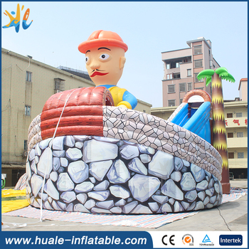 Factory price funny cartoon inflatable floating water park for sale