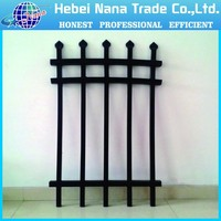 1500 mm *2400 mm 3 rail used wrought iron fencing for sale