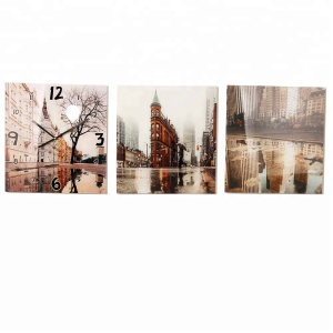 Modern Scenery Painting Art Wall Decorative Clock