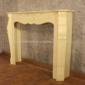 Decorative Fireplace SUrround Carved Solid Mahogany Wooden
