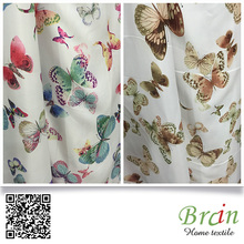Braintex Brand Fabric Private Design Home Decor Material Butterfly Print Curtain Fabric